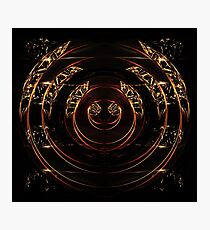 abstract gold and diamonds Photographic Print