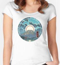 Mt. Fuji Moon Women's Fitted Scoop T-Shirt