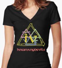 D4 Women's Fitted V-Neck T-Shirt