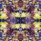 Abstract Mosaic in Yellow Blue Purple by Beverly Claire Kaiya