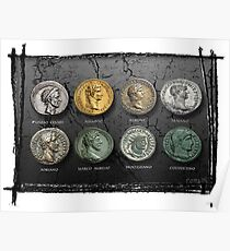 Roman Imperial Coins Poster