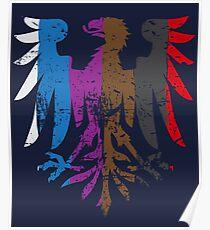 BJJ Belt Rank Eagle Form for Jiu Jitsu Poster