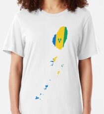Flag of Saint Vincent and the Grenadines Slim Fit T-Shirt