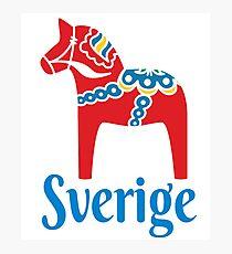 Sverige Dala Dalarna Sweden Pferd Dalecarlian Schwedisch Fotodruck