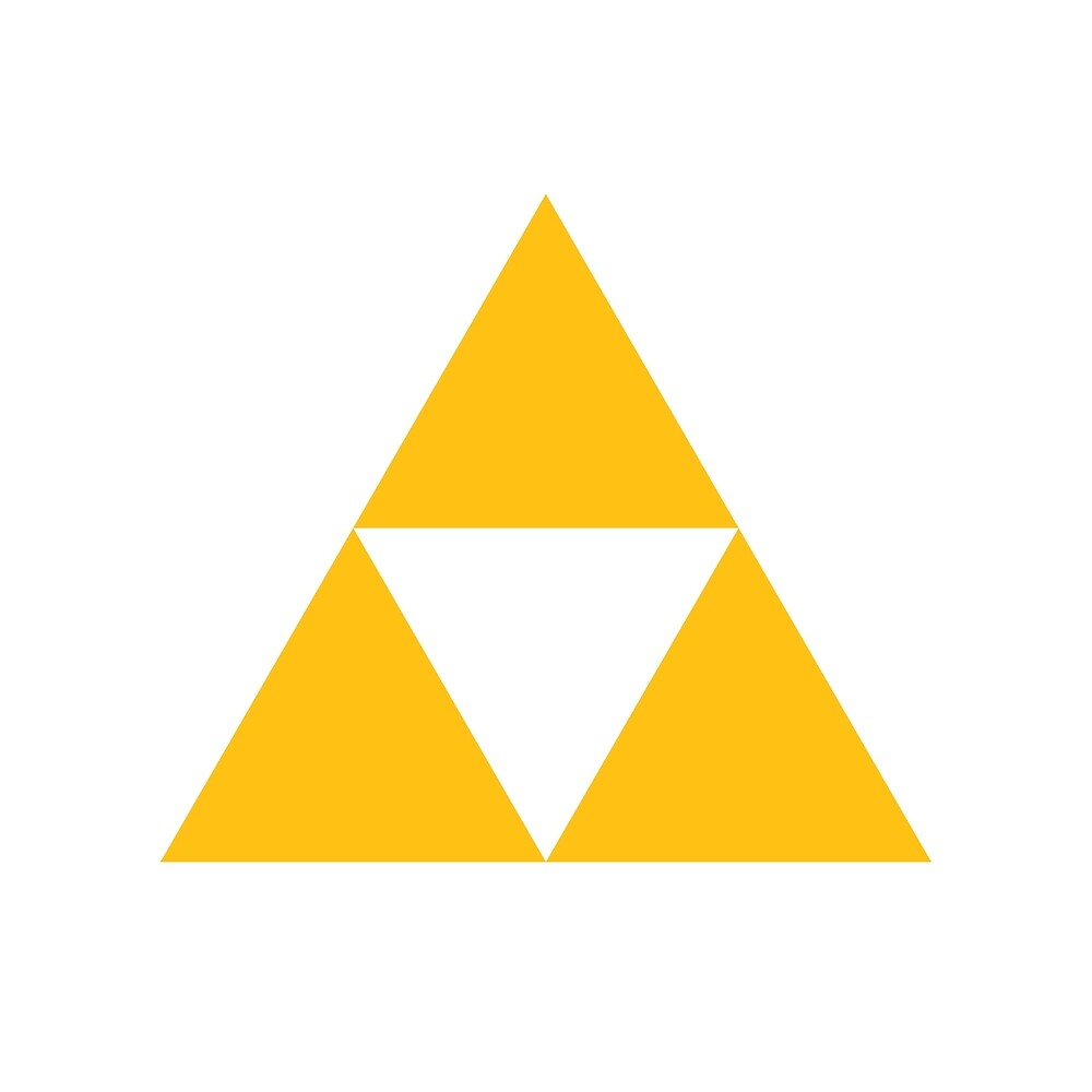 The Legend Of Zelda Symbol Super Smash Bros. (color)\ By - 1000x1000 ...