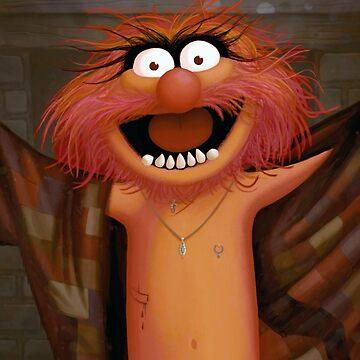 Muppet Maniacs - Animal as Buffalo Bill by GrimbyBECK