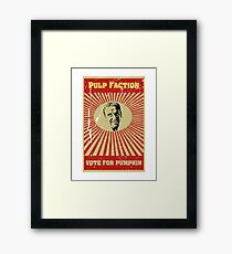 Pulp Faction - Pumpkin Framed Print