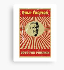 Pulp Faction - Pumpkin Canvas Print