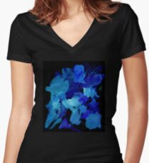 Smear Women's Fitted V-Neck T-Shirt