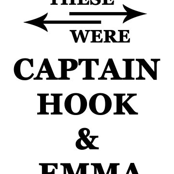 I wish these were Captain Hook and Emma Swan by alwayscaskett