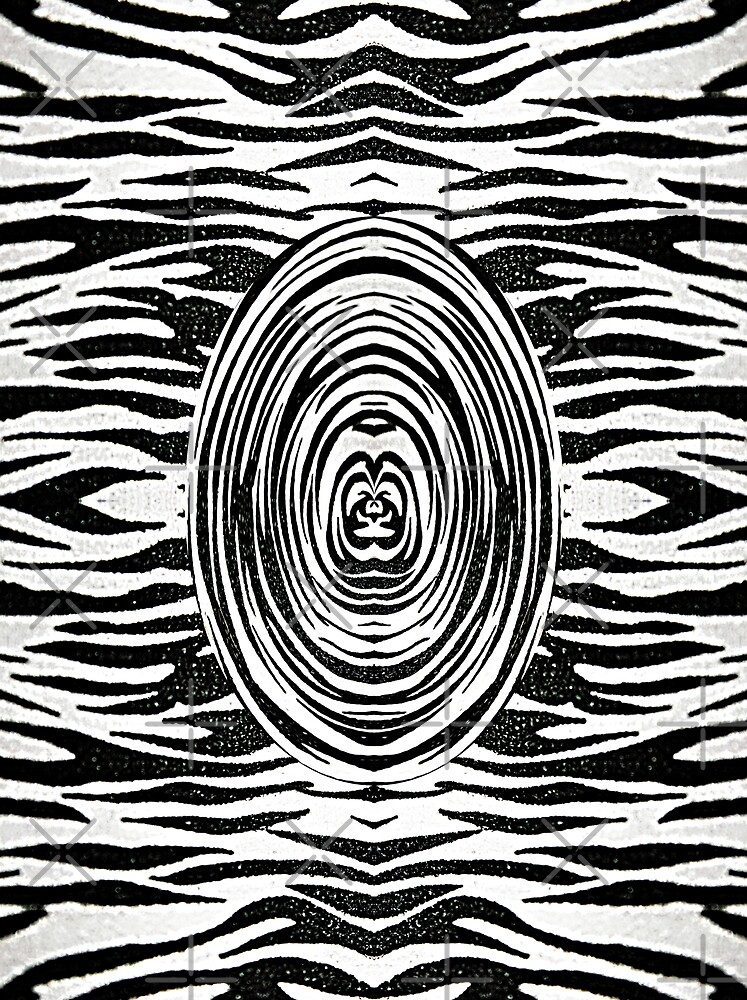 Zebra oval abstract background by Astralia