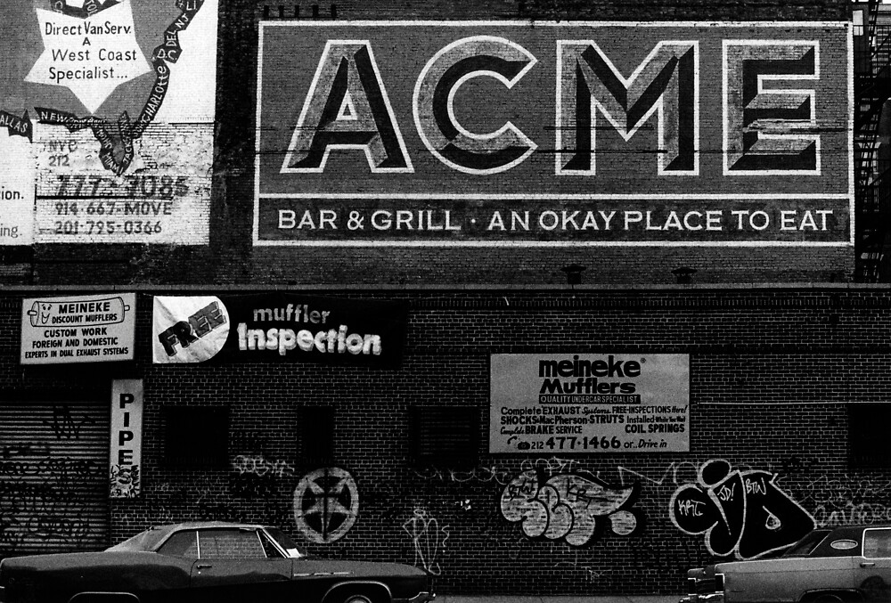 Acme advert NYC by laurencedodd