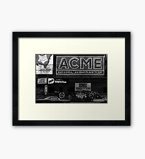 Acme advert NYC Framed Print