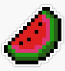 8 Bit Watermelon Sticker