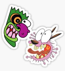 Courage the Cowardly Dog Sticker