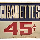 cigarettes forty five cents by Val Goretsky