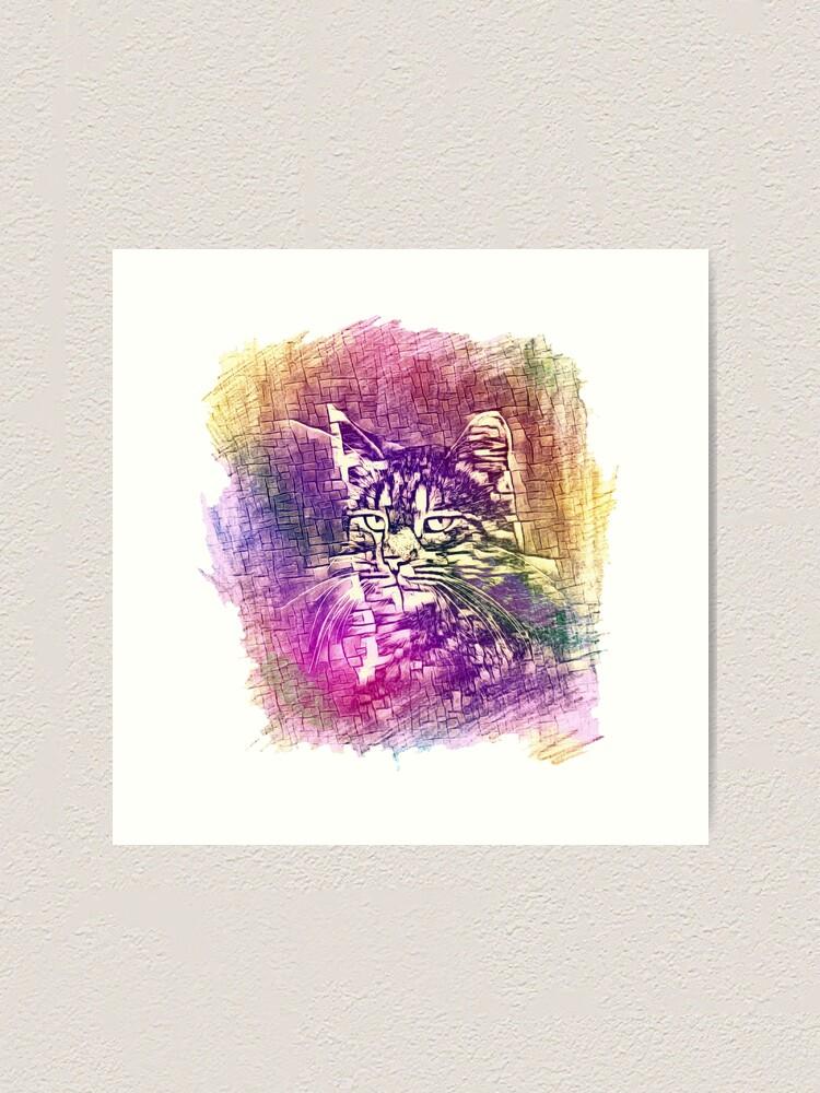 Alternate view of Cat Art Print