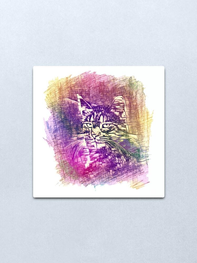 Alternate view of Cat Metal Print