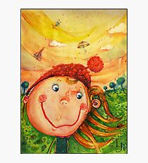 """Colored pencil """"Childhood fantasies"""" Photographic Print"""