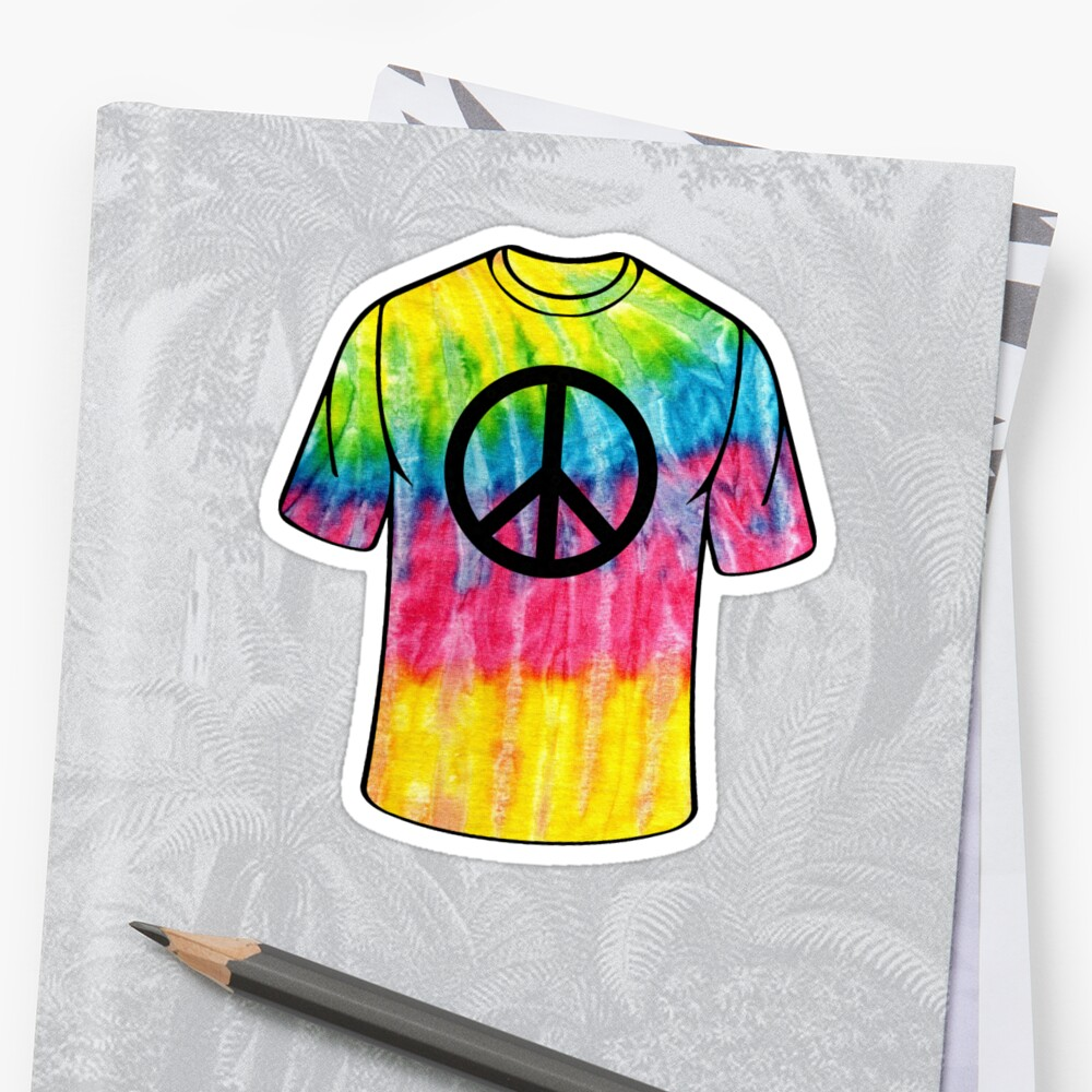 Tie-Dye Peace Symbol T-shirt Design by Inspired Images