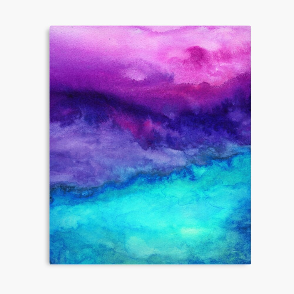 The Sound - Abstract Ombre Watercolor Canvas Print