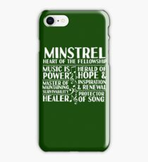 Minstrel - LoTRO iPhone Case/Skin