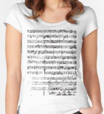 Mozart Manuscript Women's Fitted Scoop T-Shirt