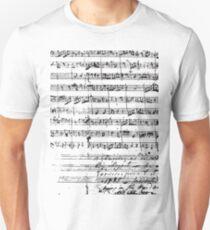 Mozart Manuscript Unisex T-Shirt