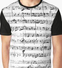 Camiseta gráfica Manuscrito de Mozart