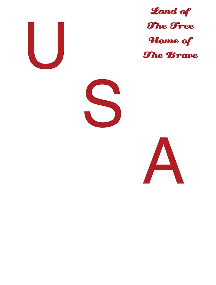 USA - Land of the Free Home of the Brave by mercarta