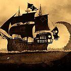 Tick tock the croc & Jolly Roger by djrbennett