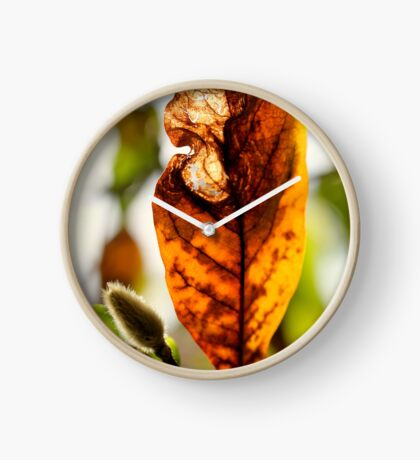 Herbstblatt Uhr