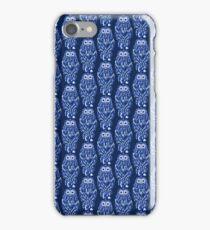 Blue Blue Owl Pattern iPhone Case/Skin