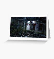 Abandoned hospital Greeting Card