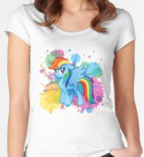 my little pony rainbow dash Women's Fitted Scoop T-Shirt
