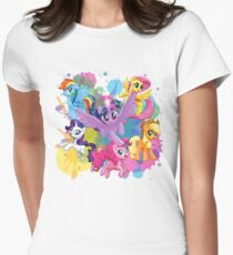 my little pony movie mane 6 Womens Fitted T-Shirt