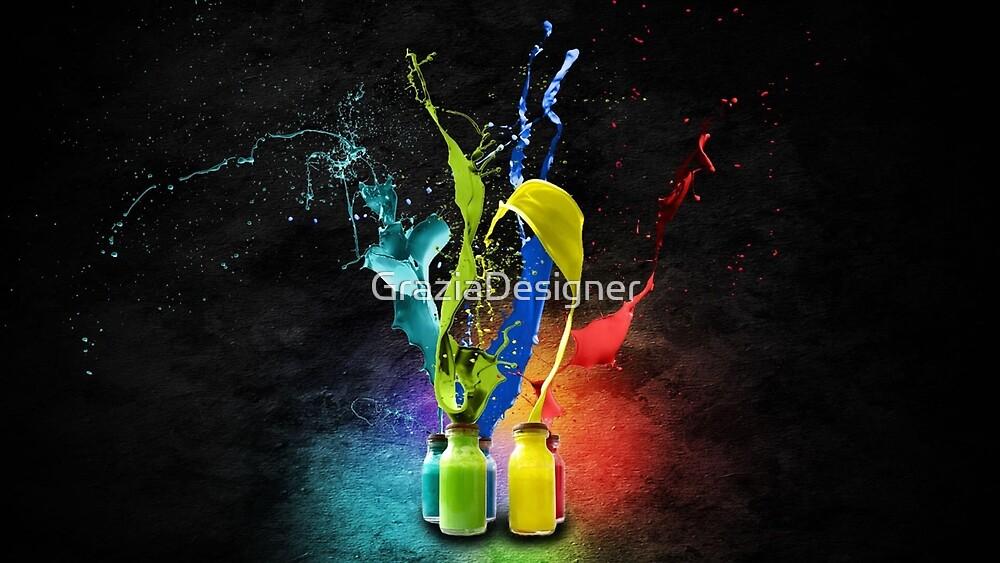Color explosion by GraziaDesigner