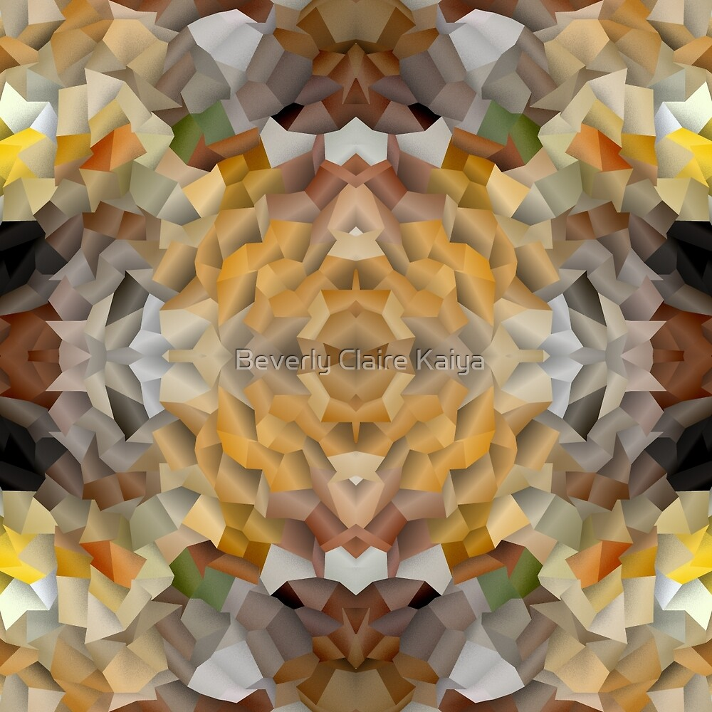 Abstract Mosaic in Earthy Tones by Beverly Claire Kaiya