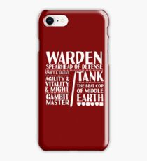 Warden - LoTRO iPhone Case/Skin
