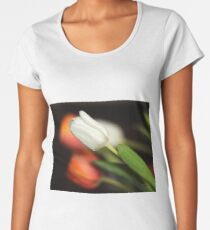 Orange and white tulips Women's Premium T-Shirt