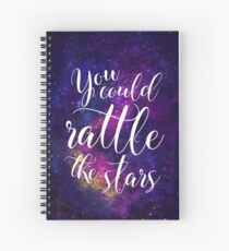 You could rattle the stars - Sarah J Maas Spiral Notebook