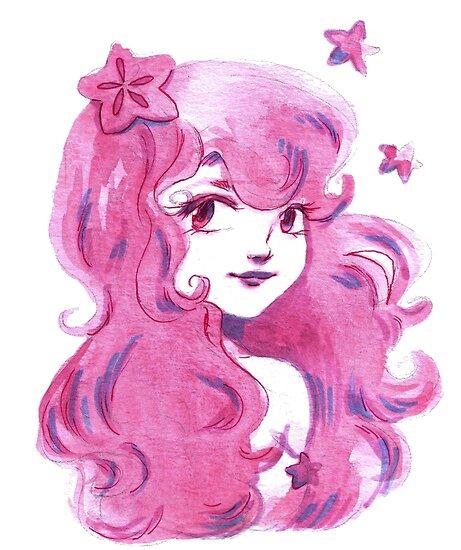 Pink Star Girl by SaradaBoru
