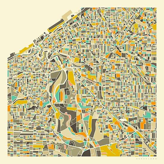 Cleveland Map by JazzberryBlue