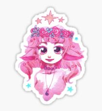 Pink Flower Crown Girl Sticker