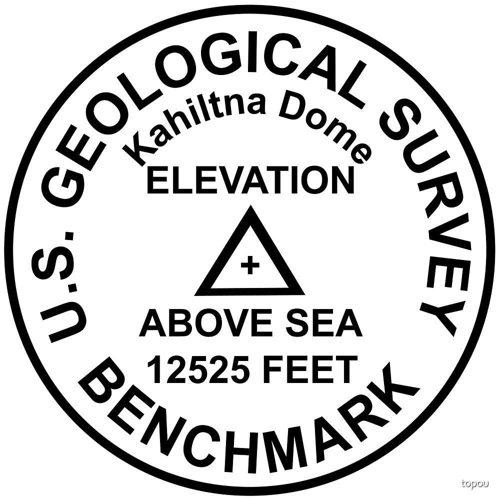 Kahiltna Dome, Alaska USGS Style Benchmark by topou