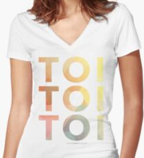 Toi Toi Toi Women's Fitted V-Neck T-Shirt