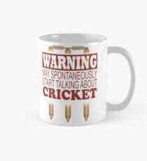 Warning May Spontaneously Talk About Cricket Mug