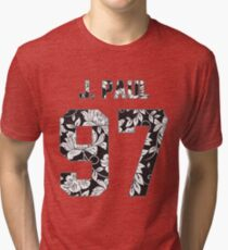 Jake Paul - B&W Flowers Tri-blend T-Shirt