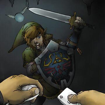 Link versus Mii by ashtonish