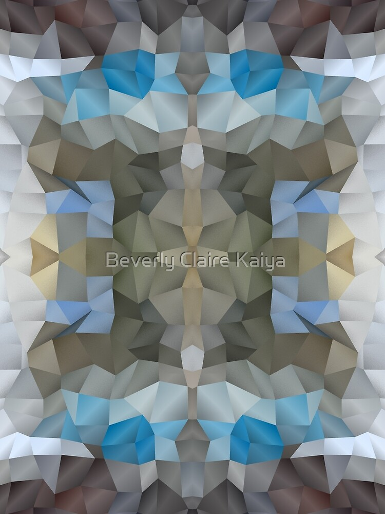 Abstract Mosaic in Cool Silver Blue Brown by Beverly Claire Kaiya